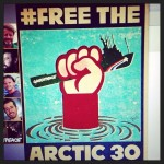 """These 30 people are in prison in Russia for staging a peaceful protest in the Arctic! Let your voice be heard. Let's bring these people home! http://ift.tt/16BZxoE"" - Madonna"