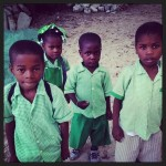 On the way to school in the beautiful Ile a Vache. @officialtourismhaiti