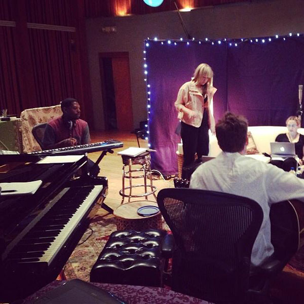 """""""Having an Iconic Moment in the studio with Toby-Mozilla and S1. My throat hurts from singing laughing and crying. #artdorfeedom"""" - Madonna"""
